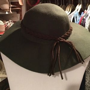 Anthro Boho Hat Wool Felt Floppy Anthropologie